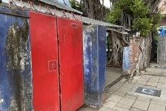 Striking Red Doors