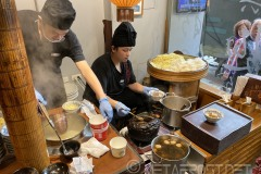 preparing the danzai noodles