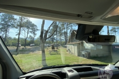 View from the front windshield