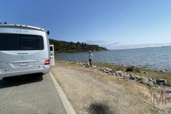 Enjoying the Bolinas Lagoon